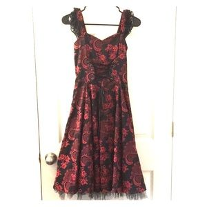 Hearts and Roses corset dress
